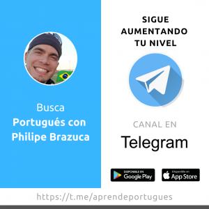 Philipe Brazuca, Canal en Telegram para aprender más Portugués